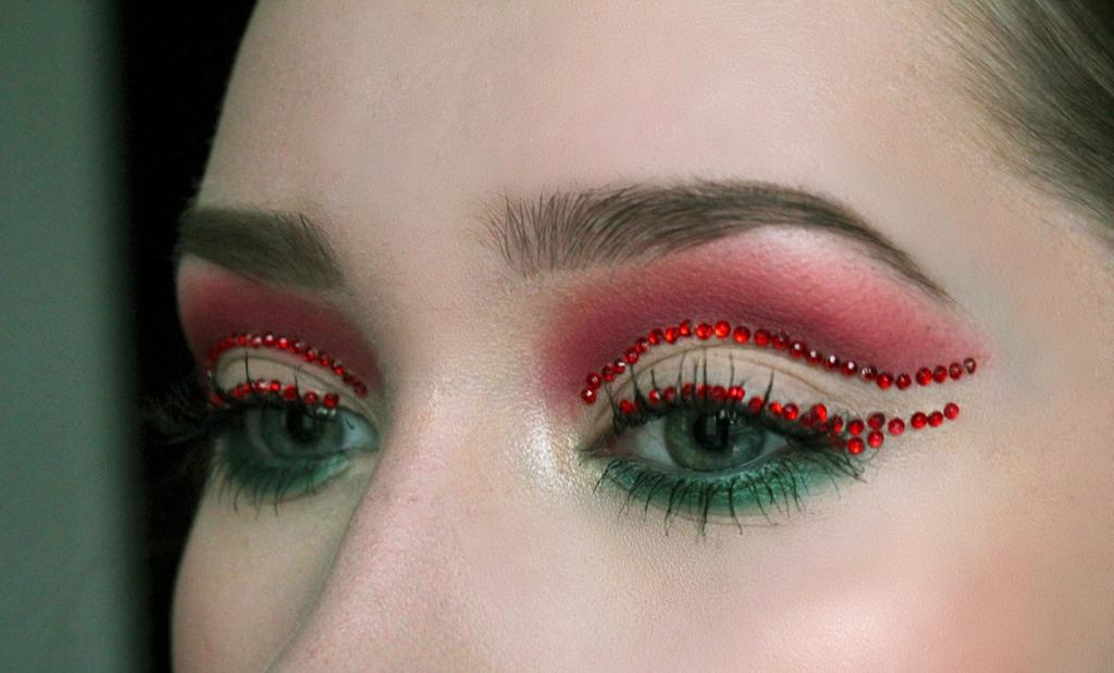Joulun inspiroima meikki